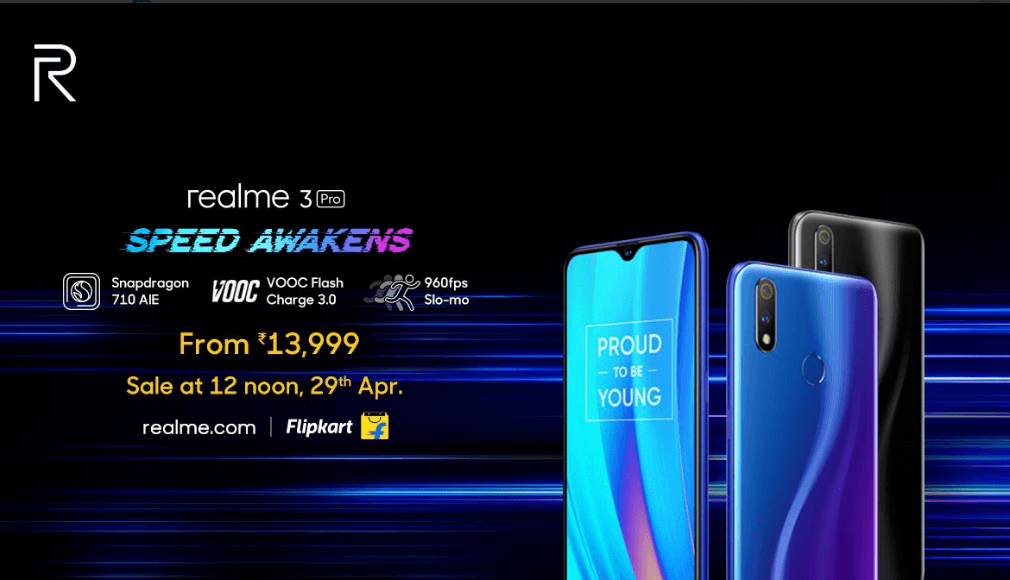 Realme 3 Pro Launched in India, Snapdragon 710 Soc, VOOc 3.0 fast charging