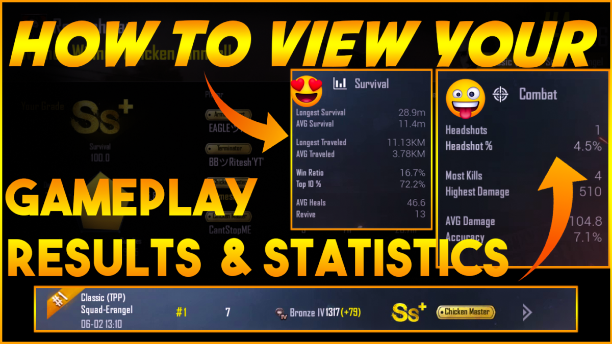 How to view your Gameplay statistics and Career Result in PUBG Mobile?