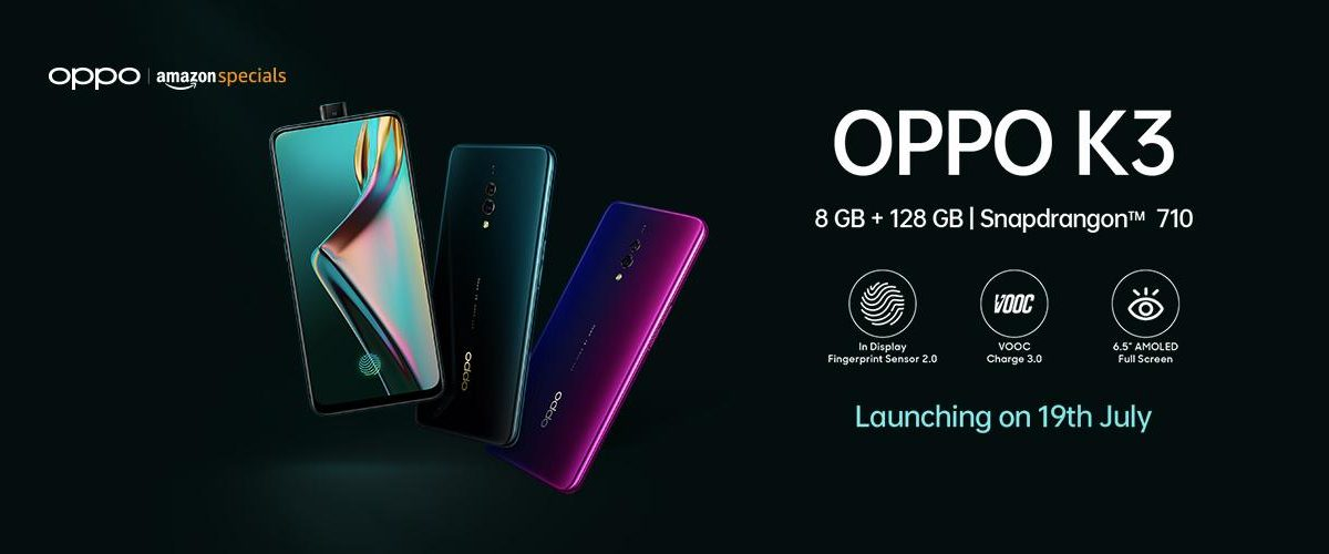 Oppo K3 launched on 19 July in India; full specification