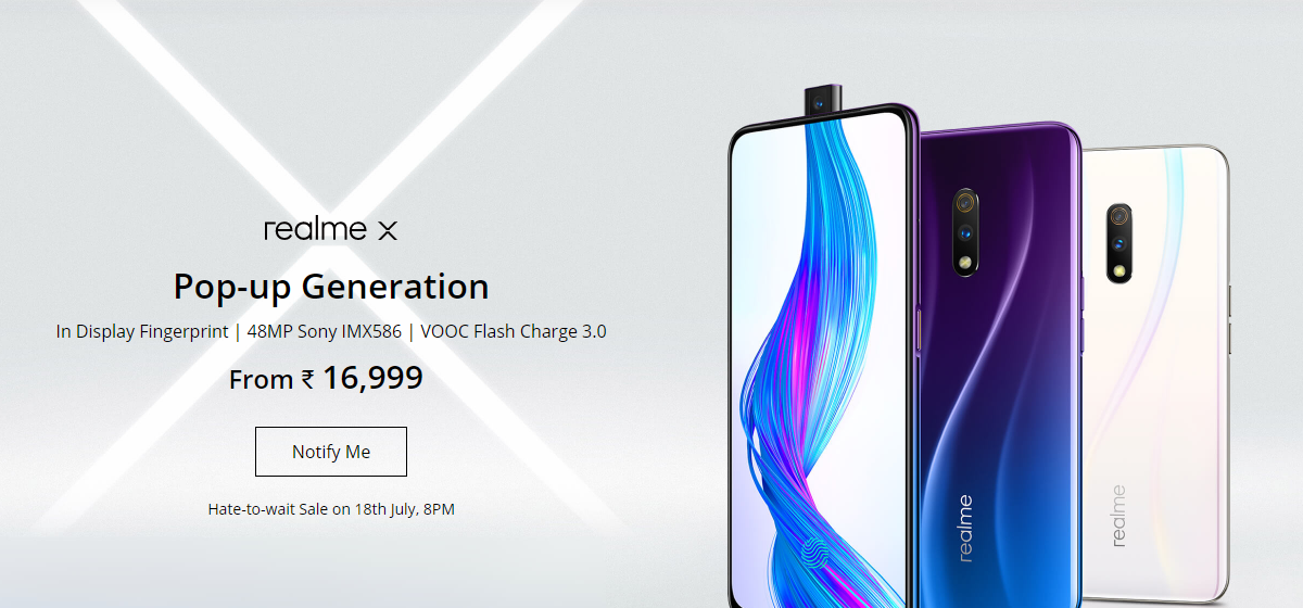 Realme X launched in India, full specification and Price
