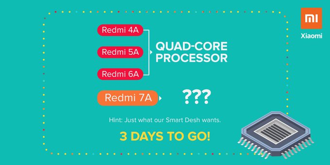 Redmi 7A set to be launch on 4 July In India