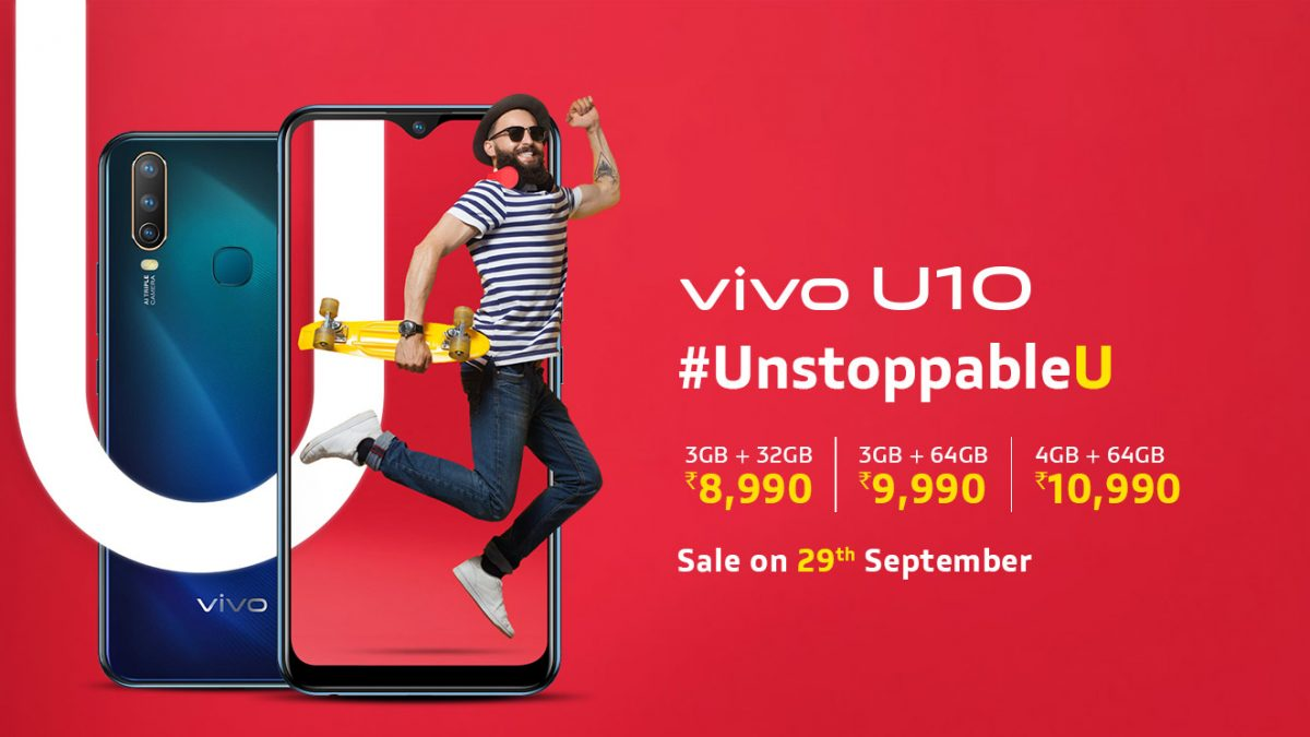 Vivo U10 Best at Rs 8990 With massive 5,000mAh battery Using 18W Fast