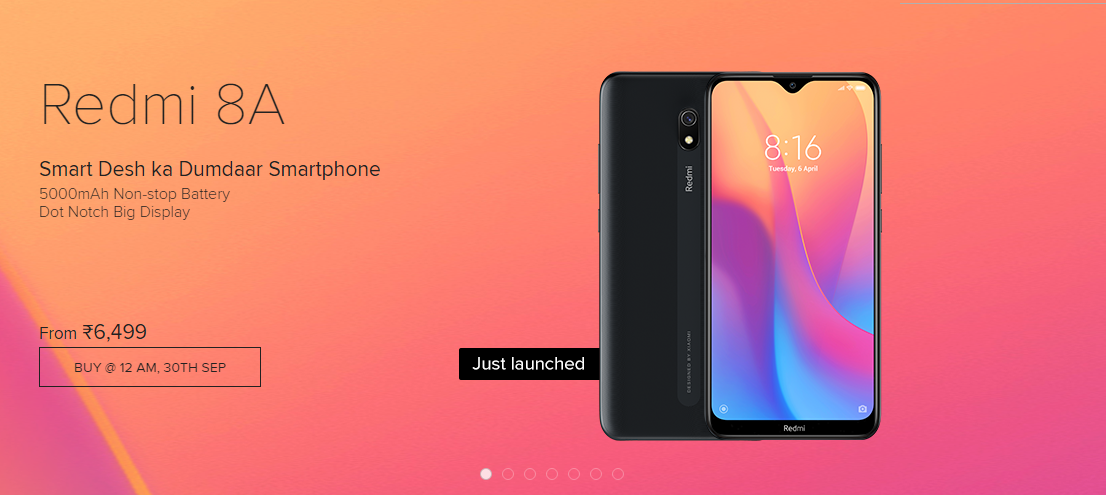 Redmi 8A With 5,000mAh, Snapdragon 439 SoC Launched in India
