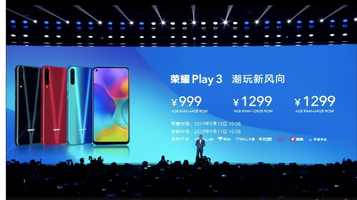 Honor 20s and Honor Play 3 Officially launched in china, Full specs and price