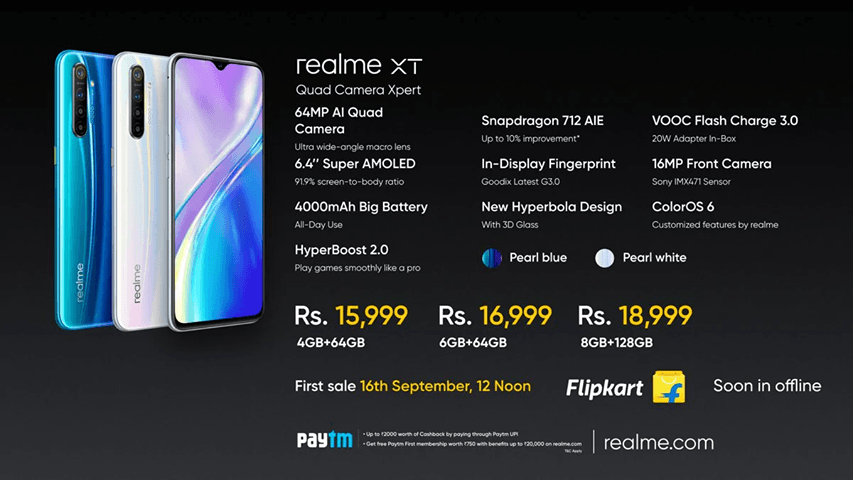 Realme XT Launched in India, Full specification and Price