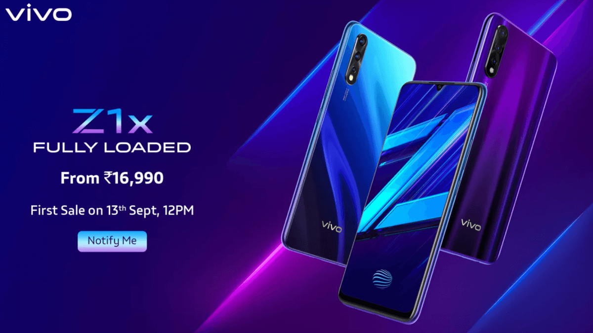 vivo Z1X launched in India, full specification and Price