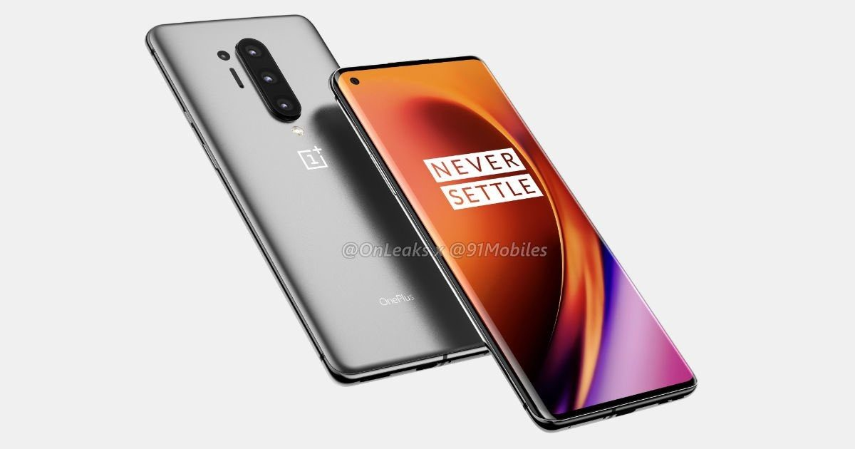 [UPDATE] OnePlus 8 Pro Renders With Punch-Hole Curved Display With a 120Hz