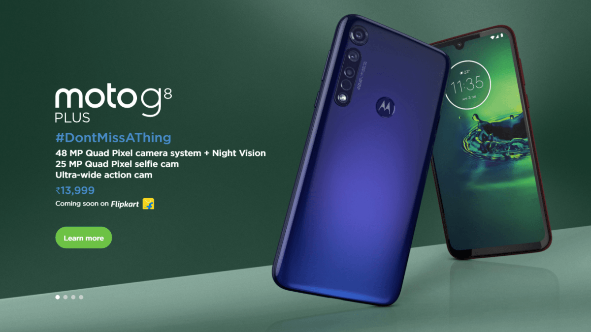 Motorola G8 Plus launched with triple Rear camera, full specs and price
