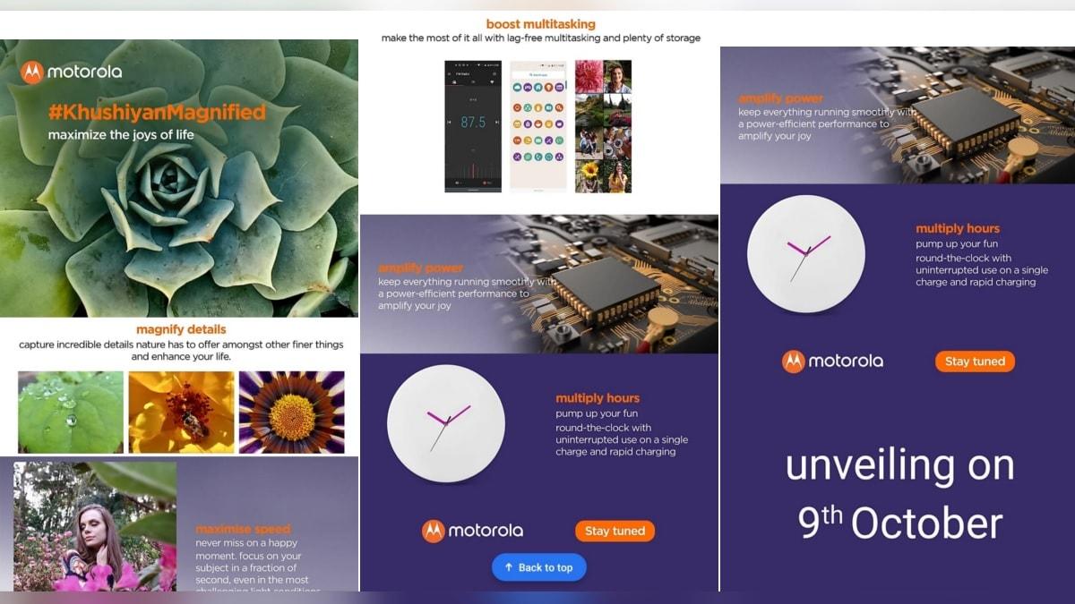 Motorola One Macro launch date set to be 9 October, full specs