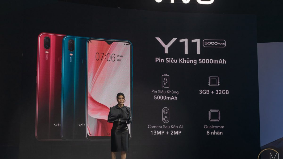 Vivo Y11 Launched In Vietnam with 5,000mAh battery and 6.35 inch Halo overflow Display