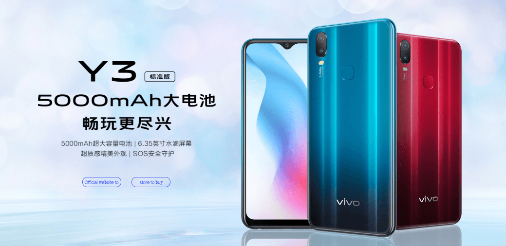 Vivo Y3 Standard Edition Launched in China, full Specs and Price