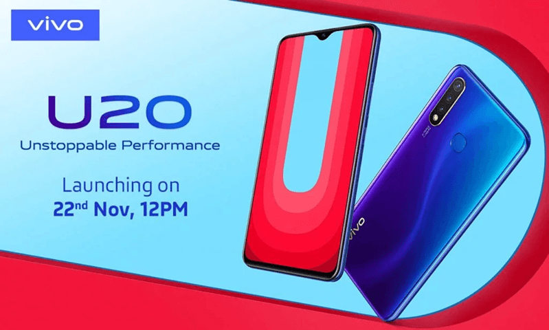 Vivo U20 Launch soon in India on 22 November with SD675