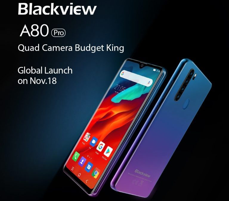 BlackView A80 Pro coming soon with Quad camera on 18 november