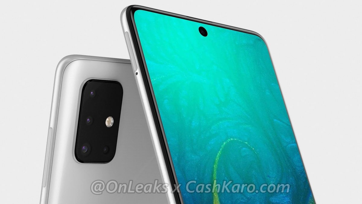 Galaxy A71 reportedly L-Shaped Camera Module and Reveal Render