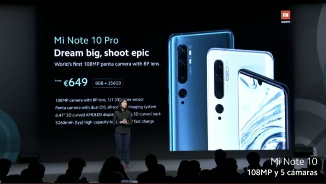 Mi Note 10 and Note 10 Pro Launched in Spain, full specs and Price