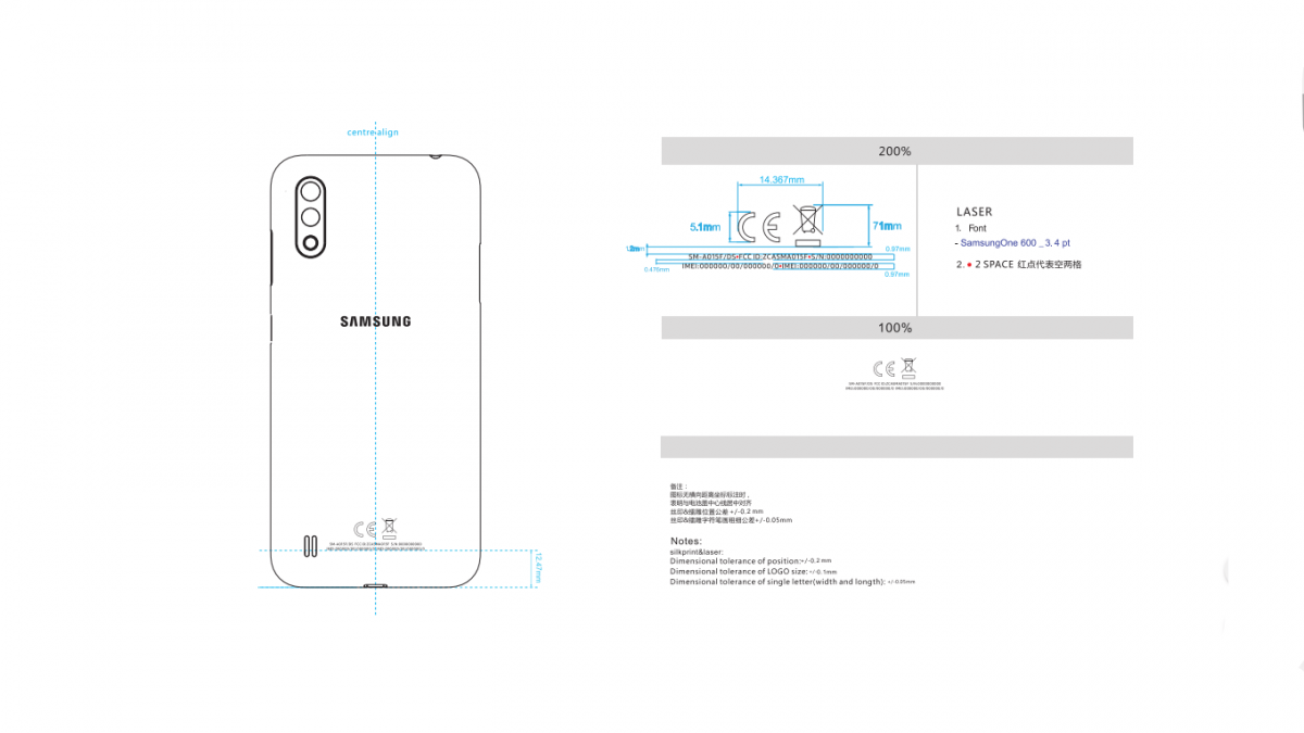 Samsung Galaxy A01 reportedly 3,000 mAh battery gets FCC approval