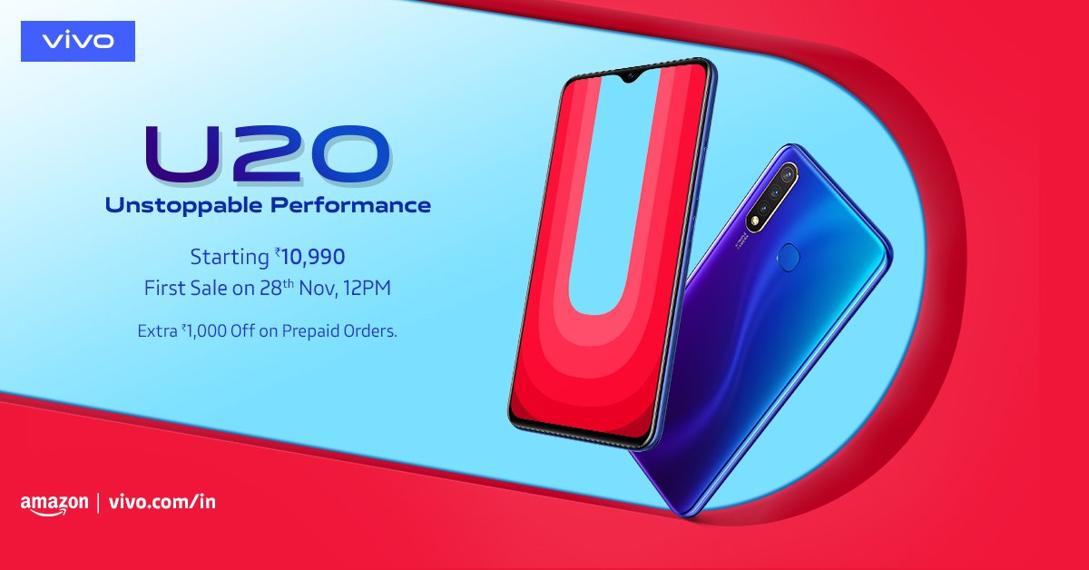 Vivo U20 launched with Triple Rear camera, SD675, full specs and price