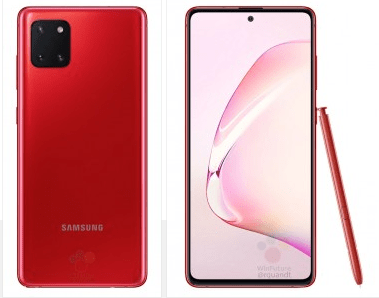 Galaxy Note 10 Lite Official Renders reveal with a flat display and More