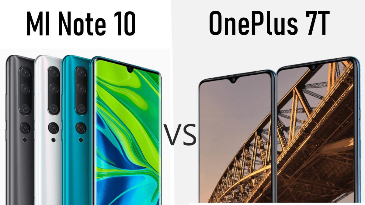 Mi Note 10 Pro Vs One Plus 7T, Full specification and Price (Mobile Comparison)
