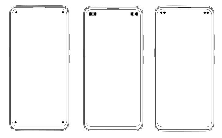 Vivo Quad Selfie Camera Punch-Hole Smartphone Patents designs