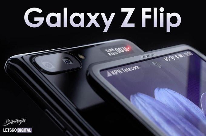 Samsung Galaxy Z Flip upcoming 2-nd foldable Rumored based Render