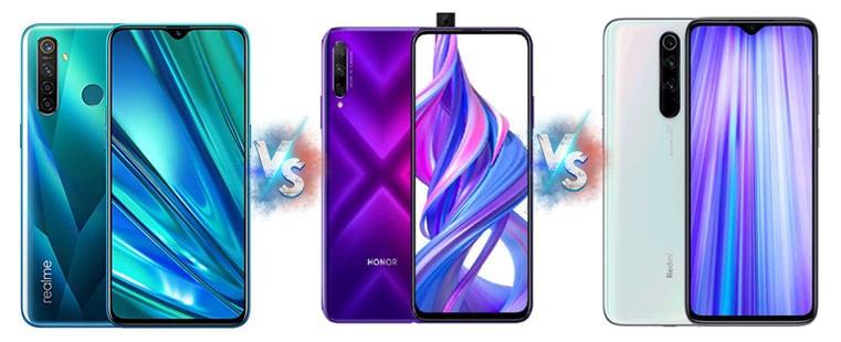 Honor 9x vs Redmi note 8 Pro vs Realme 5 Pro Specification and Price (Mobile Comparison)