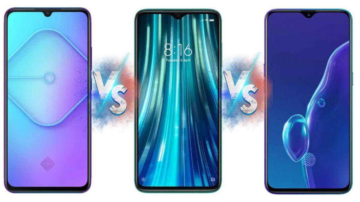 Vivo S1 Pro vs Redmi Note 8 Pro vs Realme X2 Full Specification & Price  (Mobile Comparison)