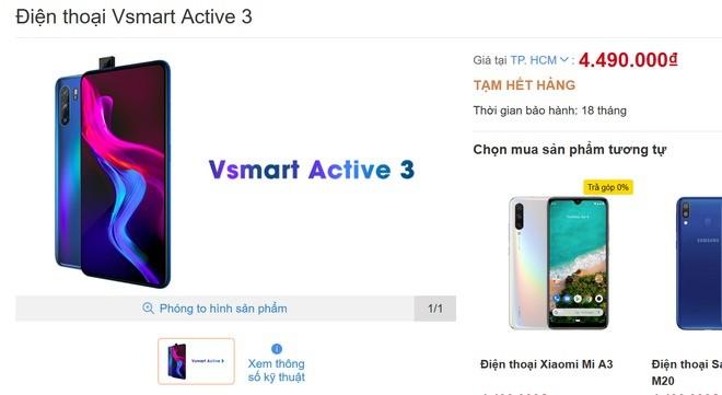 VsMart Active 3 Launched in Vietnam With Helio P60 and Pop-Up Selfie