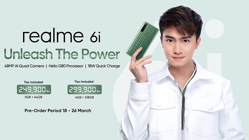 Realme 6i Now Available to Pre-order in Myanmar