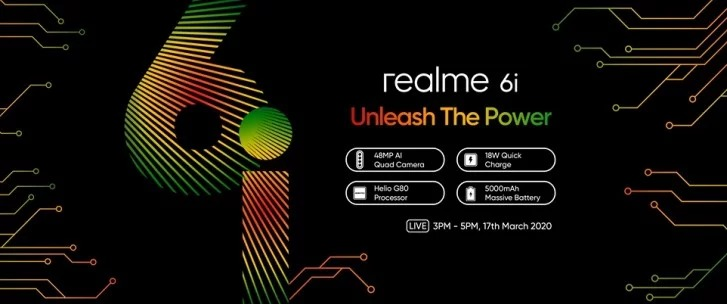 Realme 6i Confirmed to Come with 16MP Selfie Camera & 5,000mAh battery