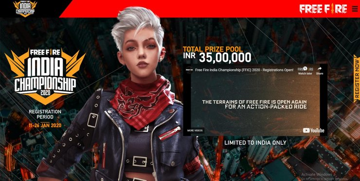 HOW TO REGISTER FOR THE FREE FIRE INDIA CHAMPIONSHIP 2020
