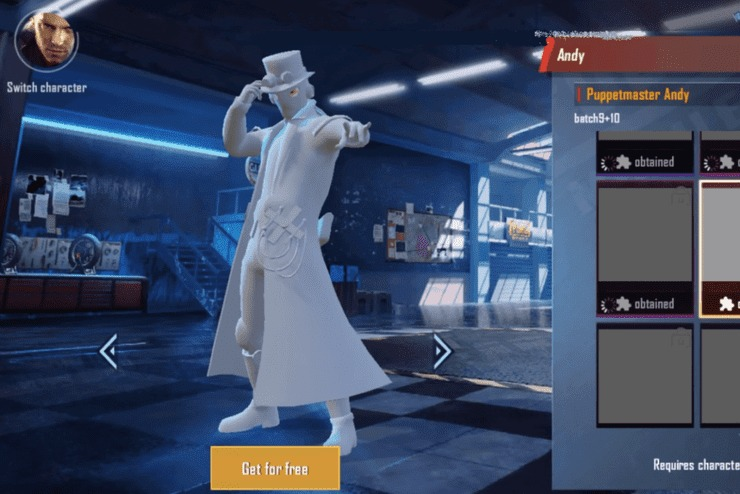 New Character, Andy, To Come In PUBG Mobile Season 13