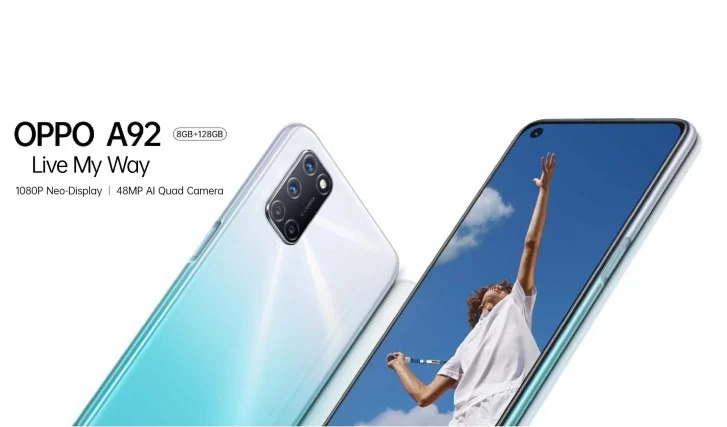 Oppo A92 launched is Malaysia as Rebranded of Oppo A72, Full Specs and Price