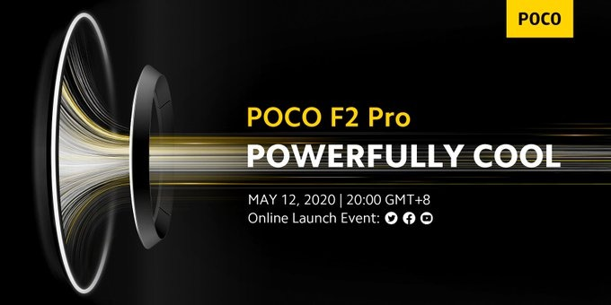 Poco Global media invitation Confirmed the Poco F2 Pro launch on May 12th