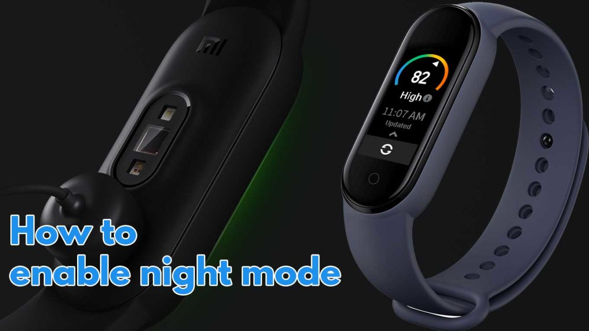 How to Enable Dark/ Night Mode in Mi Smart Band 5