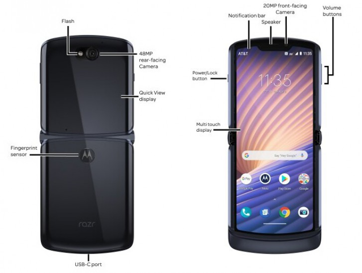 AT&T Moto Razr 2020 sketch revealed it's key specifciation and more