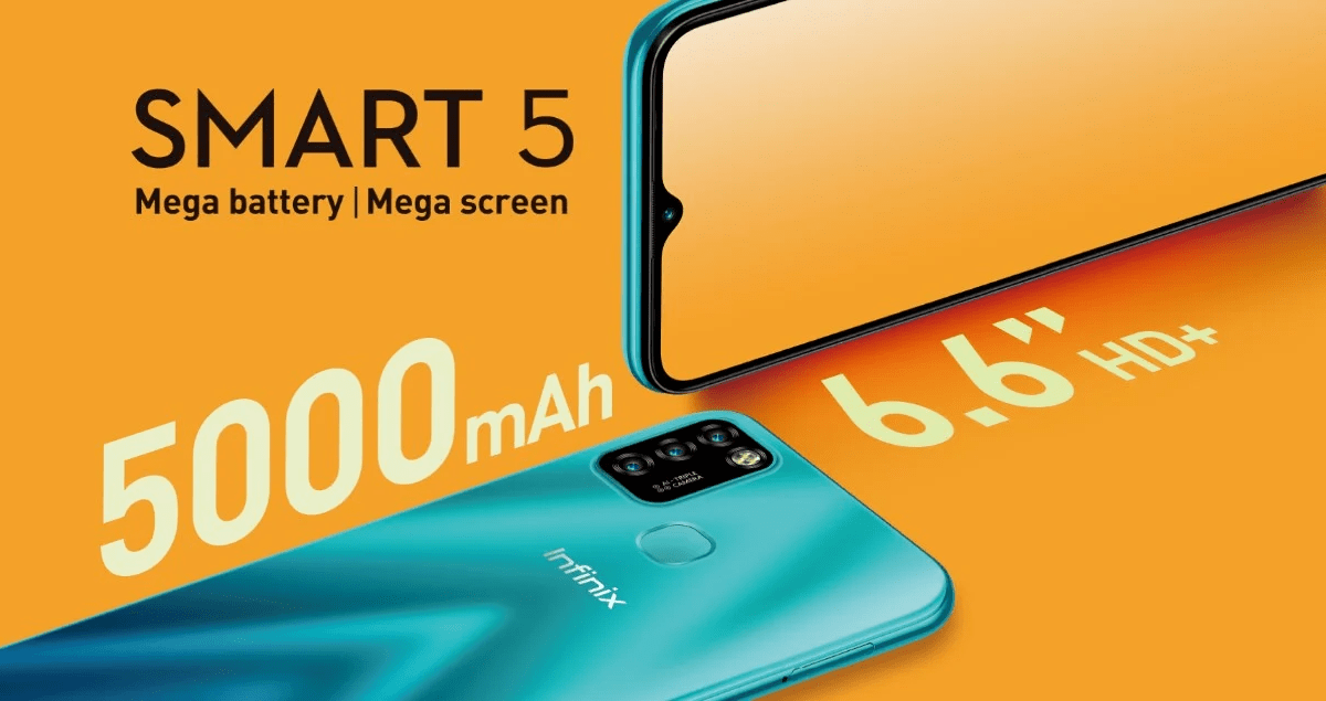 Infinix Smart 5 launched with 6.6-Inch of Display and 5000mAh battery