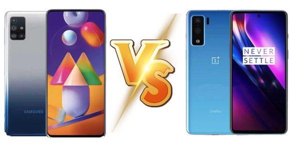 Samsung Galaxy M31s vs OnePlus Nord