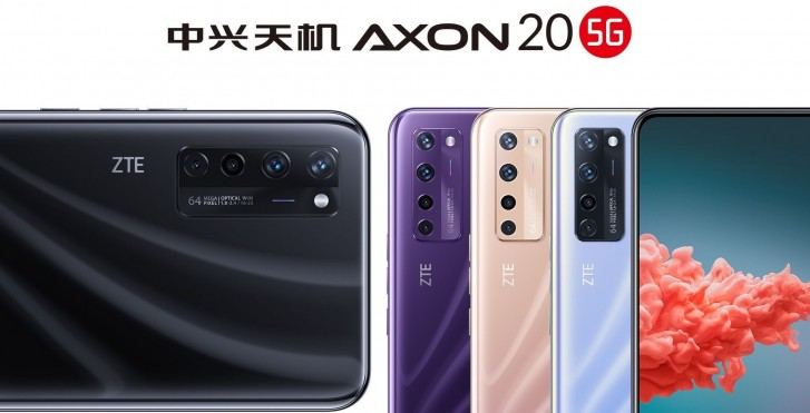ZTE Axon 20 5G appear with three new color in official poster!