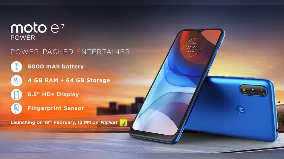 Moto E7 Power is confirmed to launch this February 19. Check out key specs.
