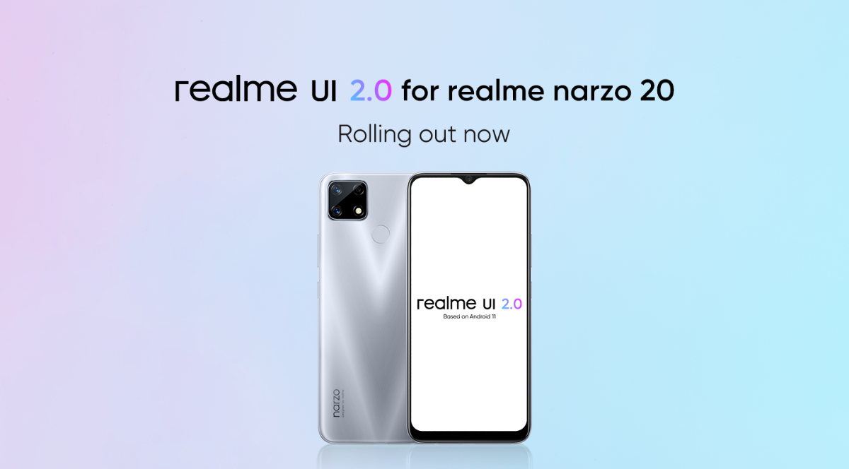 Realme Narzo 20 gets new Realme UI 2.0 stable update based on Android 11, rolling out now!