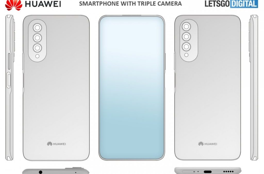 Huawei's Patent Reveals a Smartphone with In-Display Selfie Camera