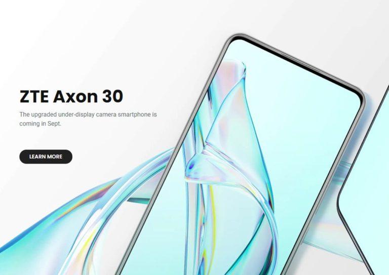 ZTE Axon 30 will launch soon globally in September