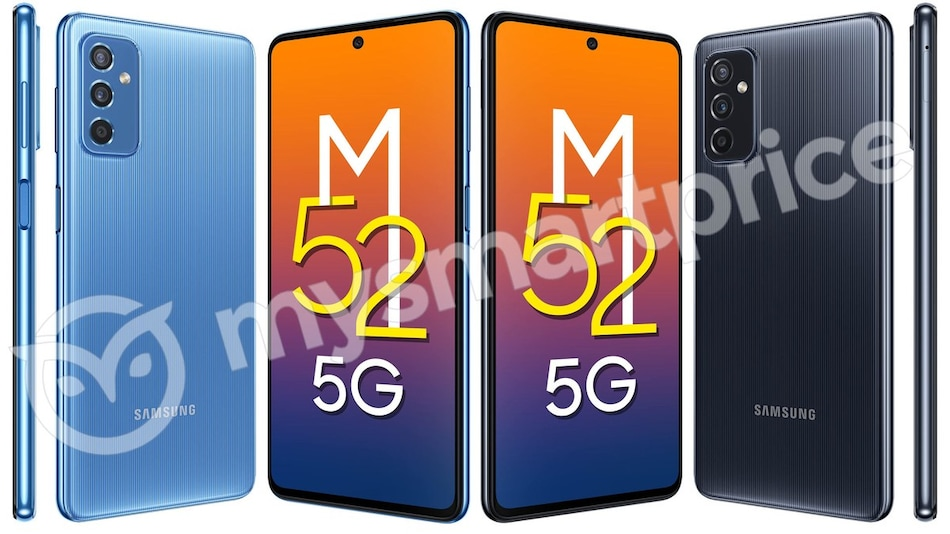 Samsung Galaxy M52 5G's Leaked Renders, comes with 120Hz Display