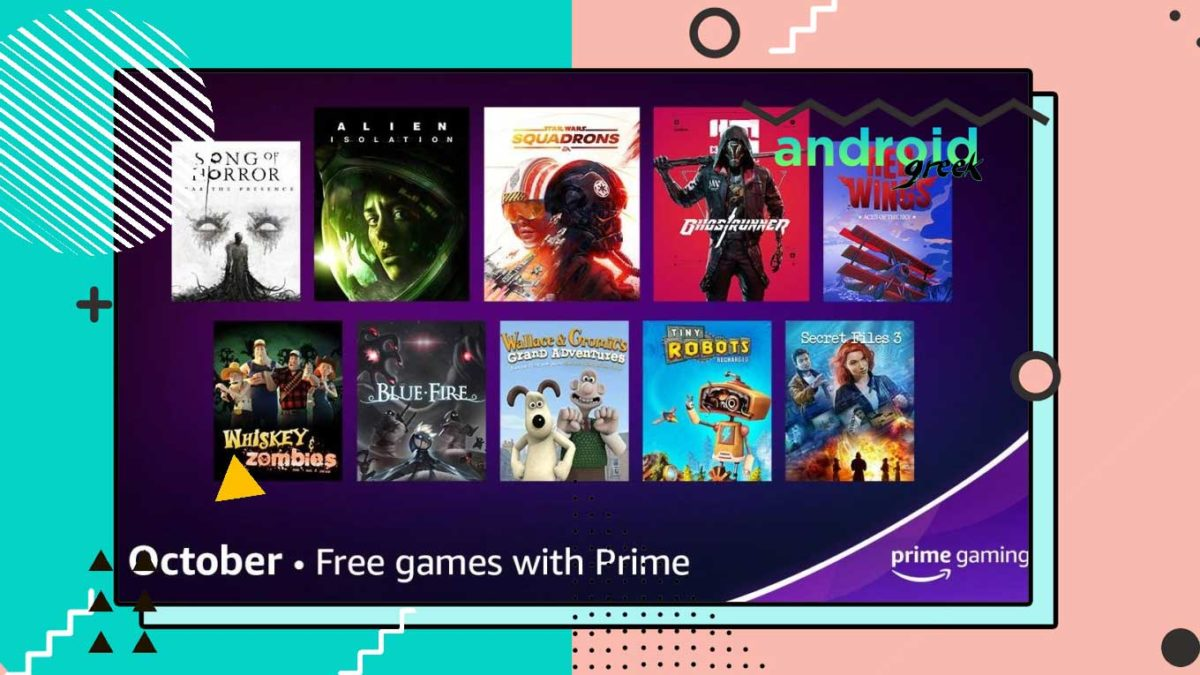 Amazon Prime Gaming free rewards for the month of October 2021