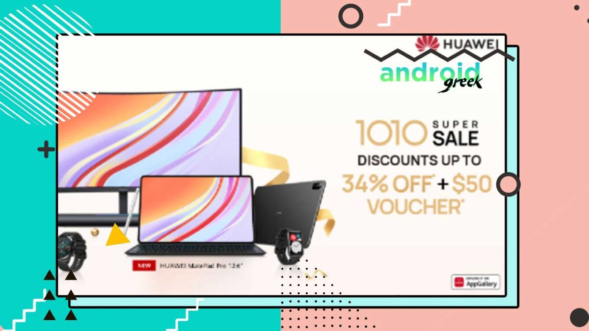 Huawei has officially announced the 10.10 Super Sale, which offers up to a 34% discount as well as a $50 voucher.